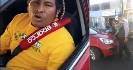 Taxista informal atropella a dos inspectores de transportes y se da a la fuga (video)