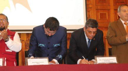 GRA firma convenio para construcción Corredor Logístico y Club del Pueblo