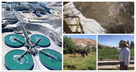 La Enlozada: agua contaminada, sembríos enfermos y casas arruinadas
