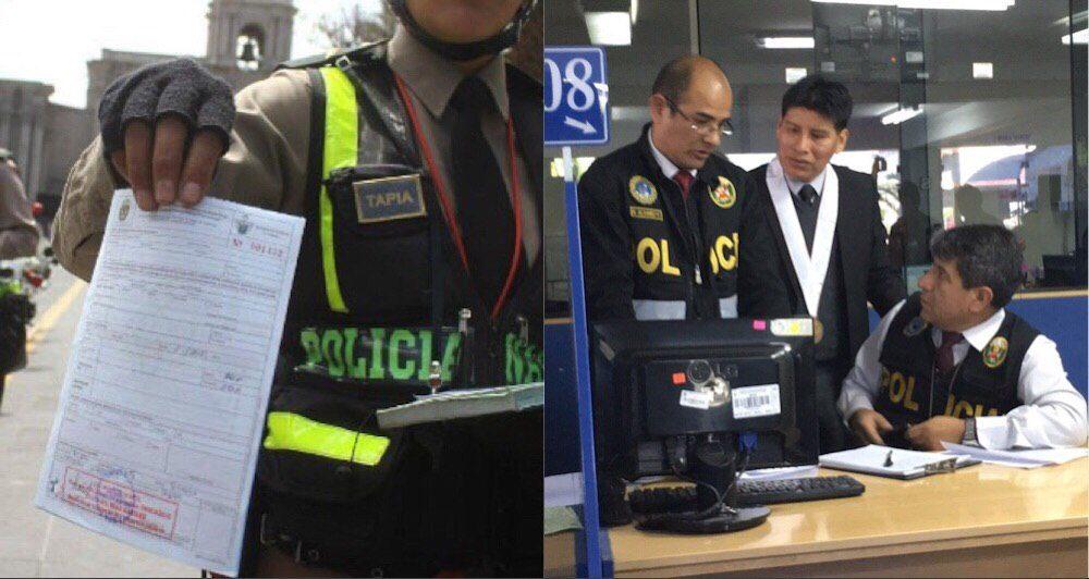 composición policia papeletas cambiazo municipalidad arequipa fiscalía