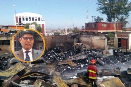 Gobierno Regional declara confidencialidad del  informe sobre  incendio en el almacén