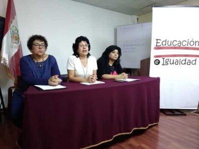 Plataforma regional de Arequipa defiende enfoque de género en currícula escolar