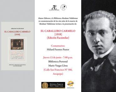 El Caballero Carmelo, presentación de libro