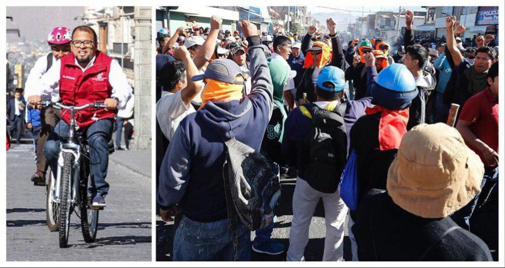 arequipa municipalidad omar candia protesta paucarpata sit