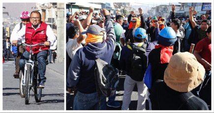 Omar Candia tuvo que escapar de transportistas opositores al SIT en Paucarpata