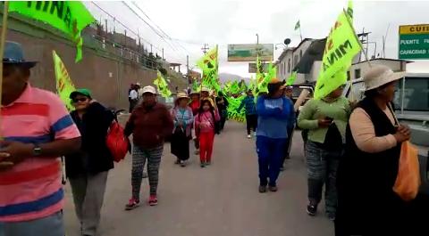 Protesta de agricultores del valle de Tambo contra proyecto Tía María