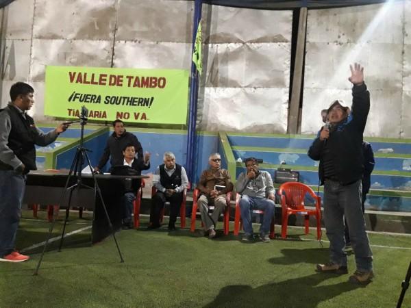 Tía María: agricultores del valle de Tambo dan ultimatum a gobernador Elmer Cáceres Llica