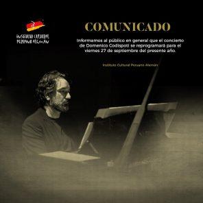 Concierto: Casa Schumann – Domenico Codispoti