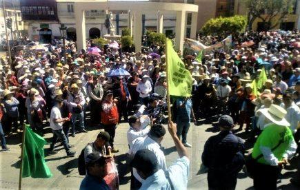Tía María: Plantón en el Poder Judicial por agricultores procesados desde 2015 (VIDEO)