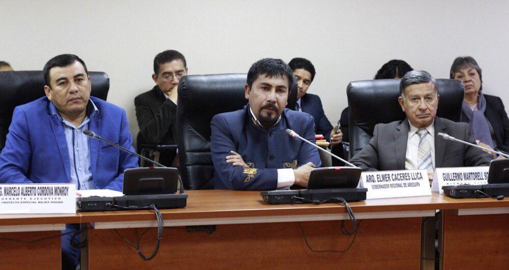 arequipa gobierno regional elmer cáceres llica majes siguas adenda 13 congreso