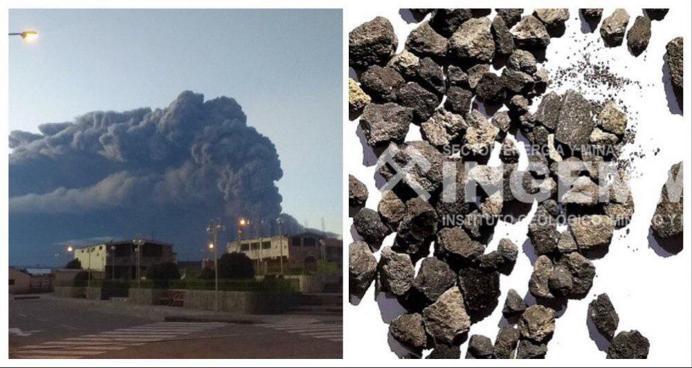 arequipa moquegua volcan ubinas erupción rocas sube magma