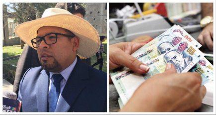 Omar Candia y sus funcionarios cobraron un sueldo completo de aguinaldo