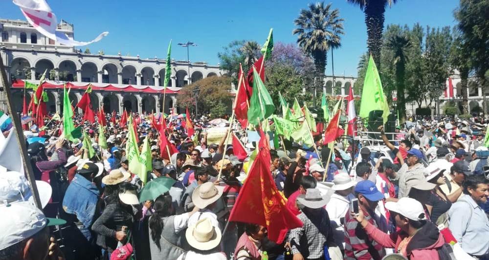 arequipa tía maría protestas plaza de armas