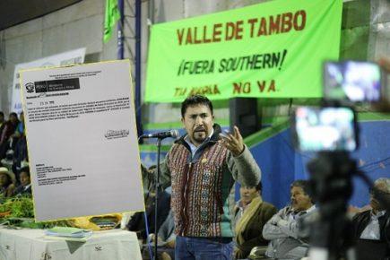 Tía María: Ministerio de Energía y Minas acepta recurso de revisión de licencia de construcción