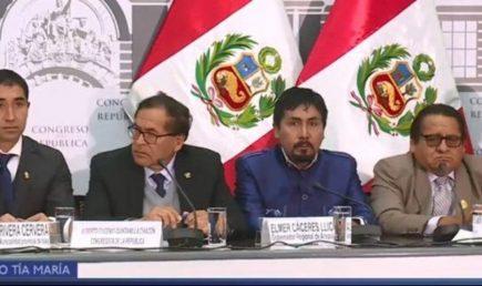 Autoridades de Arequipa piden cancelar proyecto Tía María antes de sentarse a dialogar