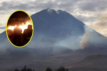 Incendio forestal en el Misti  acabó destruyendo 50 hectáreas de pastizales