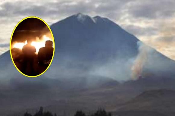 incendio forestal en faldas del misti