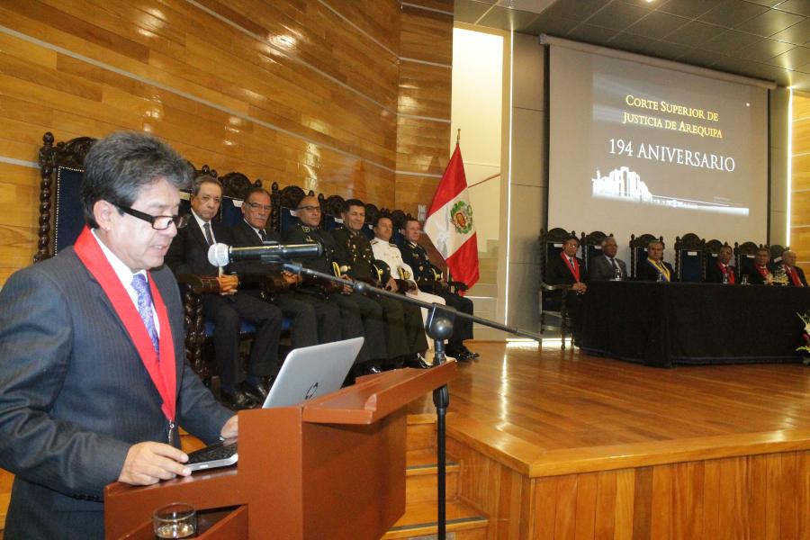 Carlo Magno Cornejo, presidente de la Corte de Justicia de Arequipa
