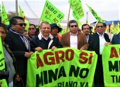 Tía María: Congresista Apaza respalda pedido de anulación de licencia