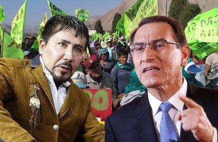 Elmer Cáceres Llica da plazo de 72 horas al Gobierno para cancelar licencia a Tía María (VIDEO)