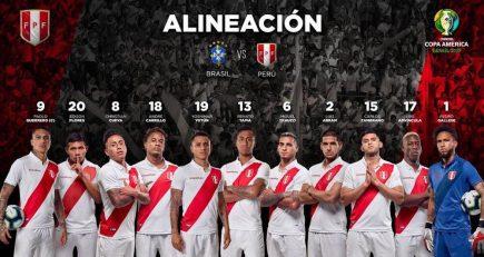 Perú vs Brasil: Juega Edison Flores y alineaciones confirmadas para la final