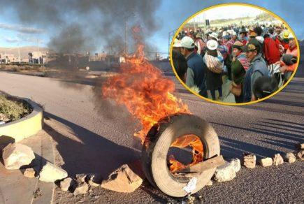 Bloquean carretera entre Puno y Cusco por contaminación de minera Aruntani
