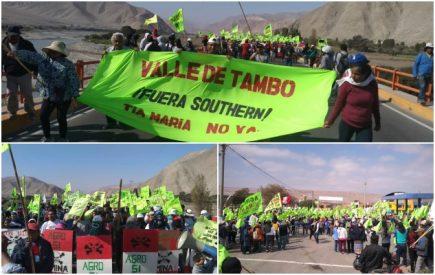 Tía María: Valle de Tambo paralizado en primer día de protesta  (FOTOS)