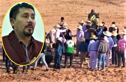 Abuchean a gobernador Elmer Cáceres Llica durante pelea de toros (VIDEO)
