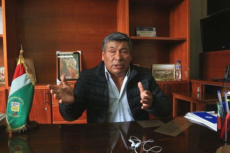 Alcalde del distrito de Cocachacra, Julio Cornejo (Foto: Correo)