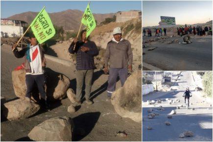 Tía María: vías bloqueadas y comercios cerrados en paro regional (FOTOS y VIDEOS)
