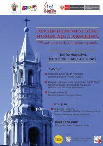 Concierto sinfónico coral: Homenaje a Arequipa