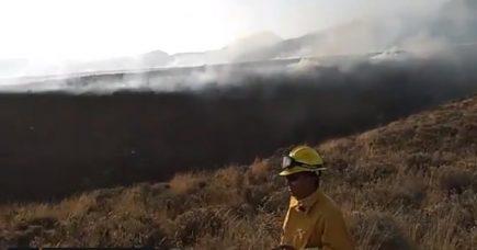 Incendio forestal en faldas del Chachani acabó con 200 hectáreas de pastizales