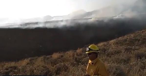 incendio forestal en Chachani