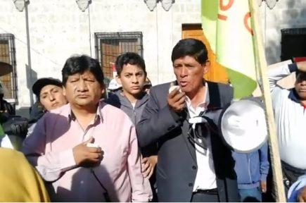 Tía María: Dirigentes de FDTA niegan tregua a Omar Candia en paro indefinido