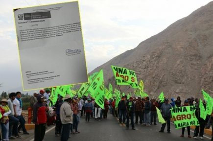 Tía María: aceptan segundo recurso de revisión contra licencia de construcción