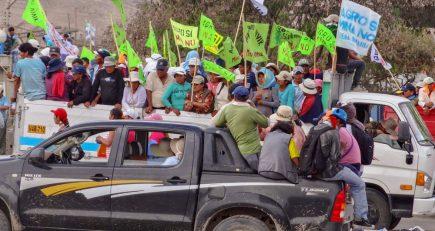 Tía María: gremios marcharán hasta Lima para hacer sentir su protesta contra proyecto minero