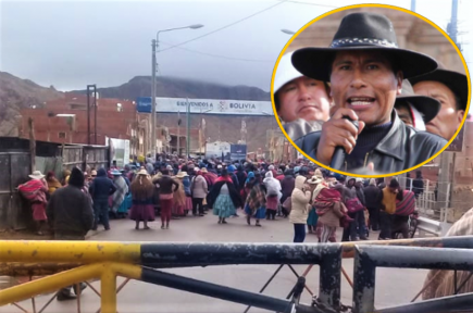 Puno: Frontera con Bolivia bloqueada tras paro a favor de Aduviri