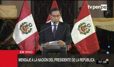 Martín Vizcarra disuelve el Congreso de la República