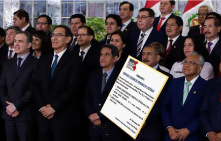 Asamblea Nacional de Gobiernos Regionales respalda disolución del Congreso