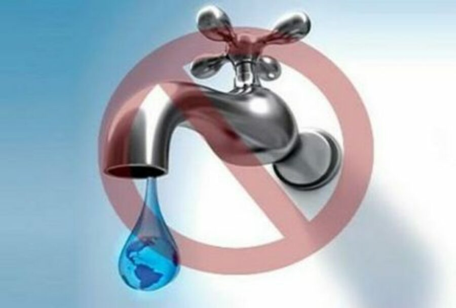 Corte del servicio de agua