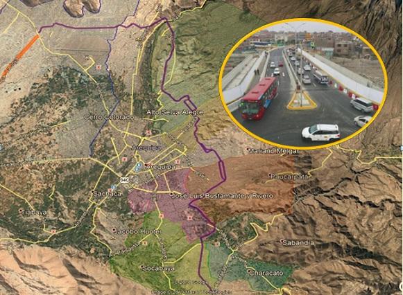 Eje Residencial para once distritos de Arequipa