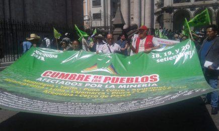 Cumbre de los Pueblos afectados por la minería: cambio profundo en la legislación