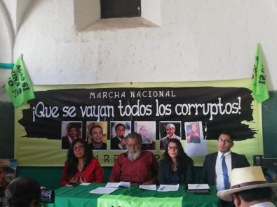 """""""¡Que Se Vayan Todos!"""": Marcha a favor del adelanto de elecciones y del Valle de Tambo"""