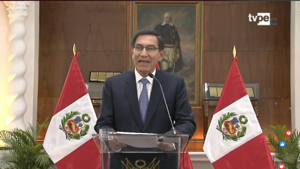"""Vizcarra: """"No vamos a claudicar en lucha contra la corrupción"""""""