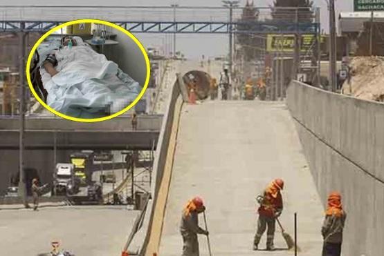 obrero sufrió accidente horas antes de la inauguración de la Variante de Uchumayo