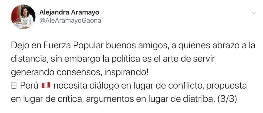 Alejandra Aramayo fuerza popular arequipa