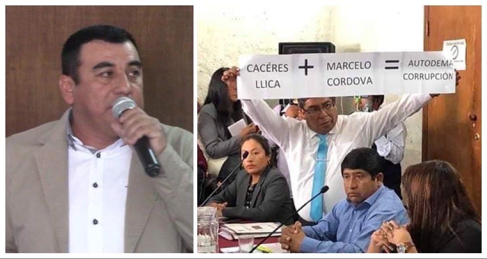 Arequipa autodema consejo regional interpelación Marcelo Córdova blindaje gobierno regional