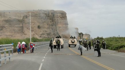 Tía María: Inician enfrentamientos y primeros detenidos en el valle de Tambo