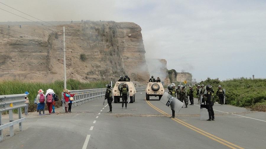 Tía María: Inician enfrentamientos y primeros detenidos en el valle de Tambo - El Búho - Arequipa