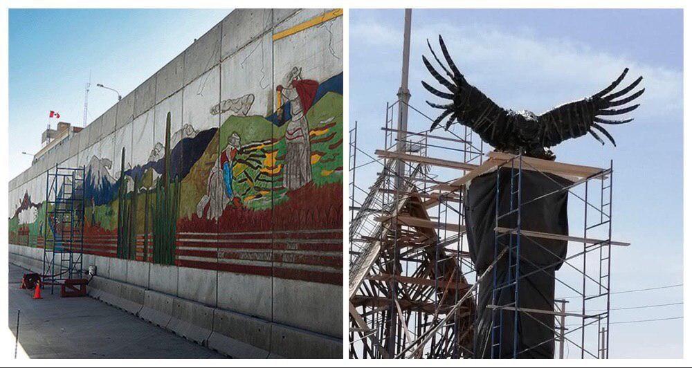 arequipa variante de uchumayo gobierno regional condor murales estatuas